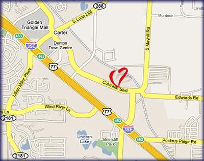 Map provided Courtesy of Google Maps
